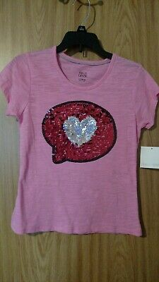 girls pink shirt size 10/12 new with tags