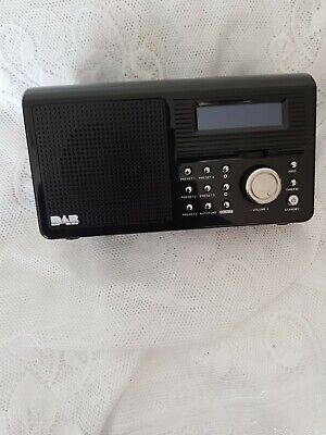 Sainsburys Red Dab/ Fm Portable Digital Radio Main Colour Is Black With Adapter.