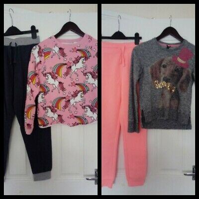 Girls Outfits bundle Next Jumpers And Matalan/Urban Jogging bottoms 11-12 Years