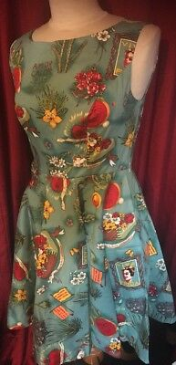 Mexican Frida Kahlo Cactus Rockabilly Vintage Retro Style Dress Day Of The Dead