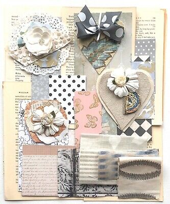 Vintage Book Pages Quotes Scrapbooking Paper 0ver 75 Items Junk Journal Kit