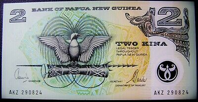 1991 Bank of Papua New Guinea Two Kina Banknote  UNC