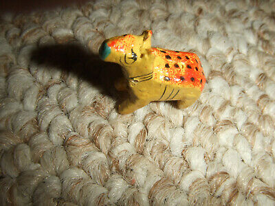 Vintage Miniature Wooden Dog Made in India