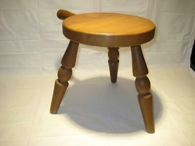 Vintage Wooden Milking Stool Authentic Furniture Product