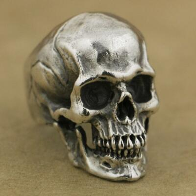 Cool Ring Horror Gothic Punk Stainless Steel Vintage Crack Skull Men's Jewelry