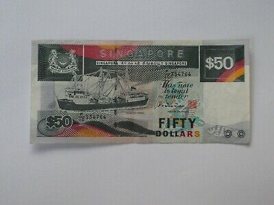 Singapore $50 Ship Series - Circulated Condition - F/10 334764