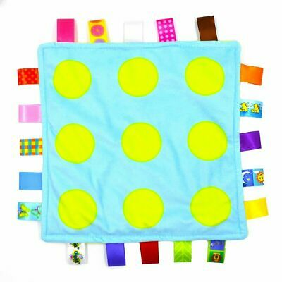Super Soft Baby Girl Boy Newborn Polka Dot Taggie Taggy Blanket Comforter Gift