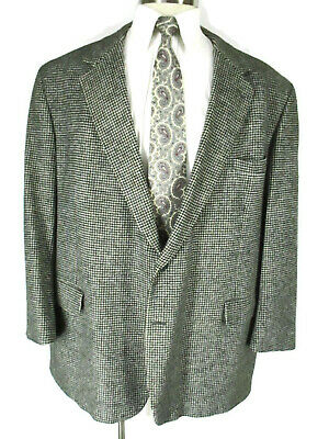 Brooks Brothers Mens Grey Houndstooth 2 Btn Camelhair Blazer 50R USA Made