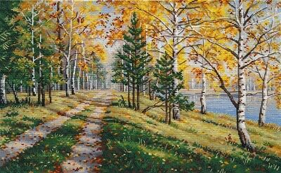 """Counted Cross Stitch Kit OVEN 1281 /""""The breath of autumn/"""""""