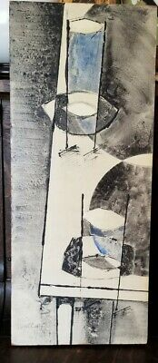 Midcentury Painting Canadian Painting  Abstract Painting Signed Listed Artist