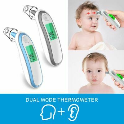 Digital Ear And Forehead Infrared Thermometer Baby Kids Adults Fever Fahrenheit