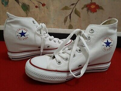 CONVERSE CHUCK TAYLOR All Star Platform Hidden Wedge White