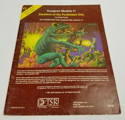 Dungeon Module Dwellers of the Forbidden City 1981 Advanced Dungeons & Dragons