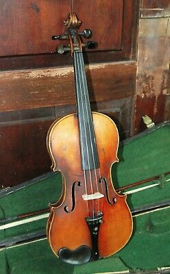 German Factory Fiddle, Strad Copy, Labeled Imperial Violin Late 19th-Early 20th