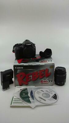 Canon EOS Rebel T3 Camera EF-S 18-55 IS II Kit 12.2MP Digital SLR (KN1020512)