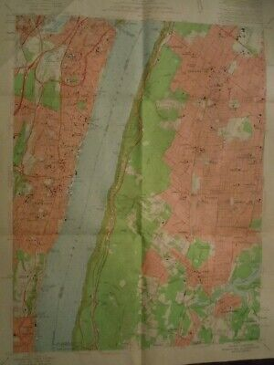 Yonkers New Jersey NY 1956 Original Vintage USGS Topo Map