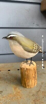 Peter Peltz Hand-Carved/Hand-Painted Red-Eyed Vireo Songbird