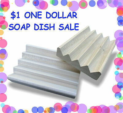 36 natural poplar wood Boardwalk style soap dishes - .88 cents each