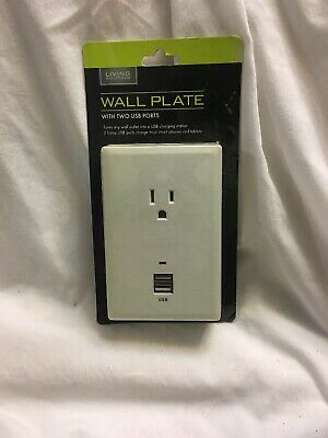 Living Solutions Wall Plate With Two Usb Ports T10