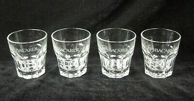 Set of 4 Bacardi Rum Glasses – 8 oz