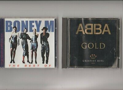 ABBA : Gold greatest Hits + Boney M : the best Of  / TWO CD Albums