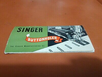 1948 Vintage Singer Sewing Machine Buttonholer Manual nice Condition free ship