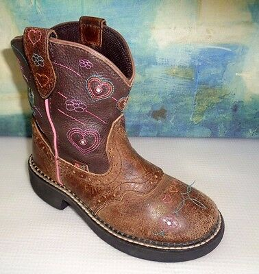 Justin Gypsy 9205Jr Brown Square Toe Kids Western Boots 13D