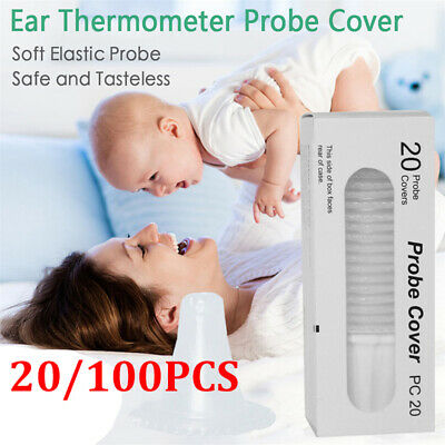 20/100pc Probe Covers Thermoscan Replacement Lens Ear Thermometer Filter Caps