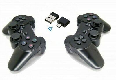 2 x 2.4G USB Wireless Dual Vibration Gamepad Controller Joystick For Laptop PC