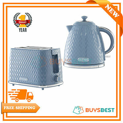 Daewoo Argyle 1.7 Litres Kettle 3 kW And 2 Slice Toaster 930W Light Blue