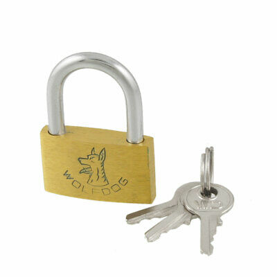 Gold Tone Metal Padlock for Cabinet Luggage Case Jewelry Box