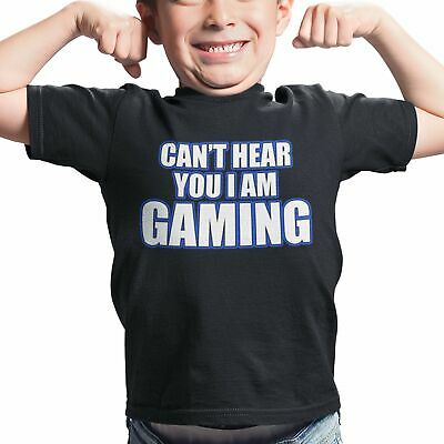 YOU CANT JUST PAUSE A GAME KIDS Funny Gaming T-Shirt Boys Girls PS4 Xbox Top Tee
