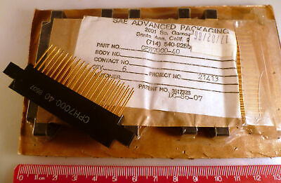 SAE CPH7000-40 Pin Gold Edge Connector Wire Wrap 0.1in Pitch With Lugs OM0967K1