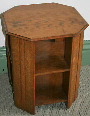 Antique Art Deco 1930s Library Book Table Oak Wood