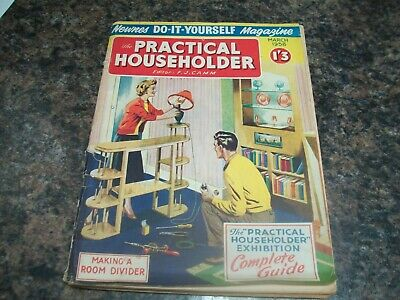 The Practical Householder Magazine march 1958 with householder exhibition guide