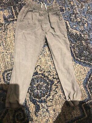 Boys grey NEXT jeans trousers 6 years 6-7 worn once VGC