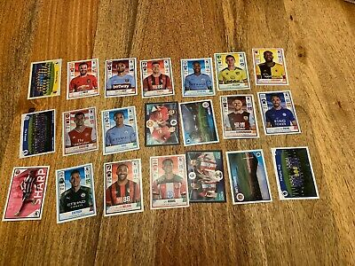 21 Mint Official Panini Football 2020 Premier League Stickers