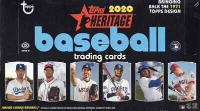 2020 TOPPS HERITAGE BASE SINGLES - #1 to #200 - U PICK FROM LIST