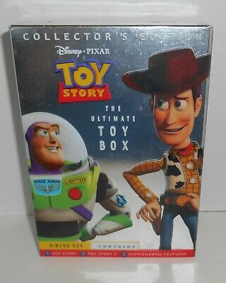 TOY STORY 1 & 2 Disney Pixar Collector's Edition 3-Disc Ultimate Toy Box Set