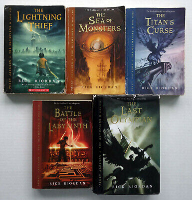 Percy Jackson & Olympians Series by Rick Riordan Complete Lot Set 5 (1-5) Mixed