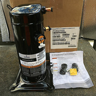 Copeland ZP20K5E-PFV-830 Scroll Compressor R-410A 208/230 Volt 20,000 BTU NEW!