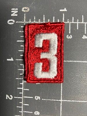 Boy Scouts of America BSA Red White Patch Troop Number # 0 Shoulder Embroidered