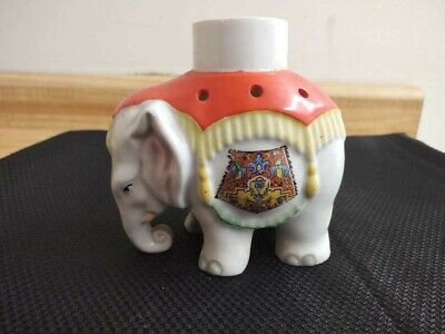 Vintage Aerozon Germany ? elephant ceramic light sconce figurine