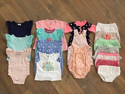 Baby Girls Summer Bundle Size 000 - 17 items Flutter Suits, Rompers, Shorts, Etc