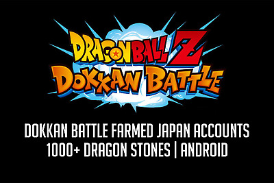 Dokkan Battle Farmed JP Account 1000+ Stones Android