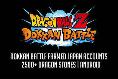 Dokkan Battle Farmed JP Account 2500+ Stones Android
