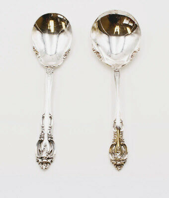 Lot Of 2 Gorham Sterling Sugar Spoon & Solid Gravy Ladle Discontinued #8003-2