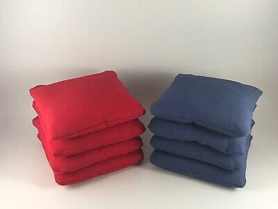 Cornhole Bags Set Of 8 Red And Blue Quality Regulation Free Shipping