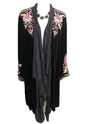 Johnny Was Ioana Velvet Drape Blouse Brand New With Tags Was $275 Now $148