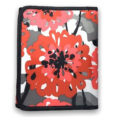 Thirty-One Fold-It-Up Organizer Bold Bloom Red Gray iPad Tablet Cover Floral